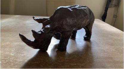 Create a Papier Mache Rhino